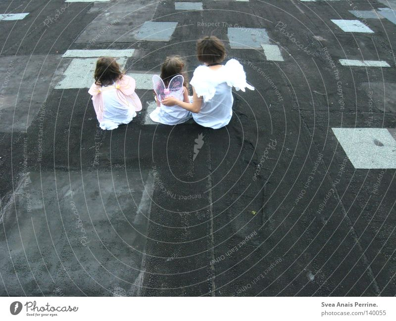 Woman Child White Beautiful Girl Family & Relations Together Pink Sit 3 Floor covering Ground Wing Roof Angel Transience