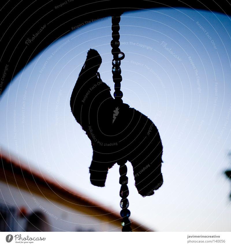 elephant Sky Blue Animal Dark Decoration Chain Elephant Pendant