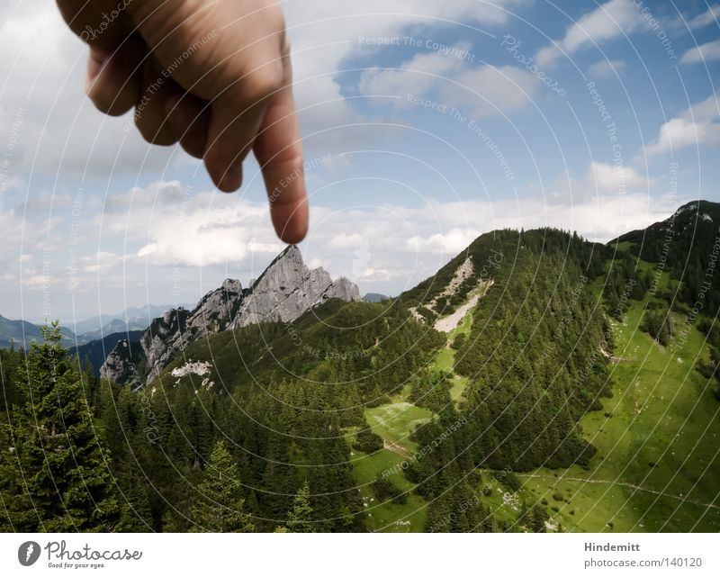 100 | Ouch Mountain Meadow Forest Alpine pasture Peak Upper Bavaria Stone Mountaineering Free-climbing Climbing Abseil Point Miniature Hand Fingers Pain
