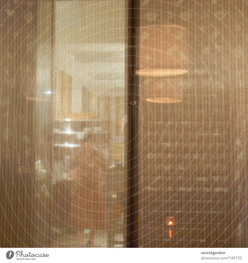 vertical irritation Reflection Restaurant Timidity Hide Hidden Kitchen Cooking Human being Woman Wall (building) Japan Japanese Lamp Vertical Paper Transparent