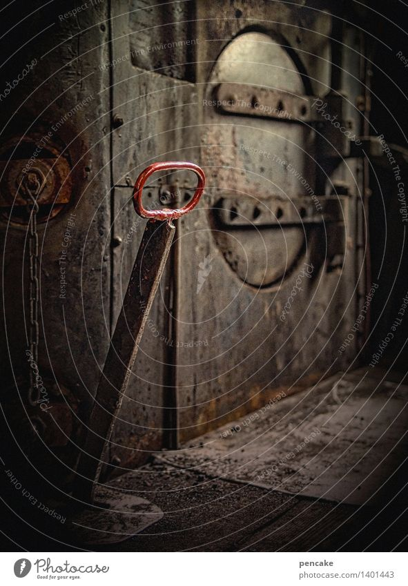 Technology Retro Railroad Sign Near Rust Machinery Engines Train compartment Control device Steamlocomotive Switch lever