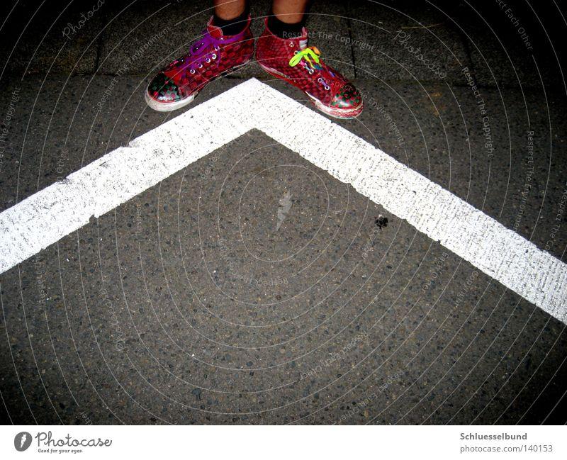White Red Black Street Dark Gray Stone Legs Bright Footwear Skin Corner Stripe Traffic infrastructure Stockings Difference