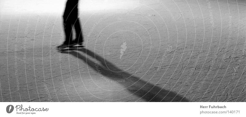 cold fusion Ice Ice-skates Structures and shapes Surface Black & white photo Shadow Converse Contrast Cervice Furrow Scratch mark Light Winter