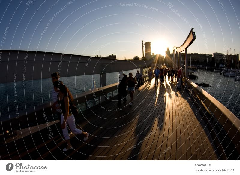 Woman Man Water Sky Sun Ocean Summer House (Residential Structure) Life Wood Architecture Going High-rise Bridge Harbour