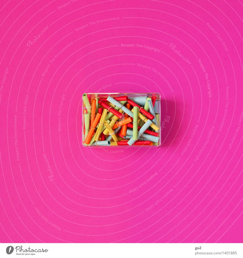 Here we go! Game of chance Lottery Paper Lottery ticket Tin Multicoloured Pink Success Happy Coincidence Lose Colour photo Interior shot Studio shot Deserted