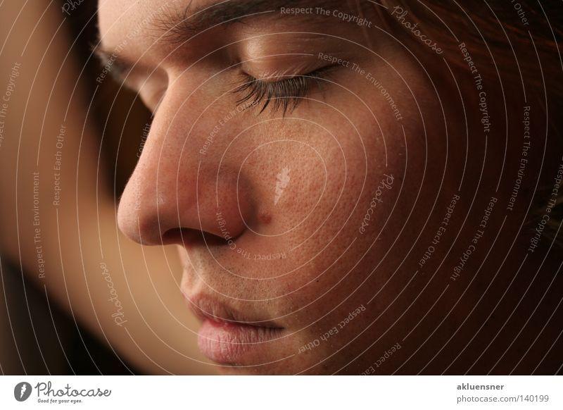 Face Calm Eyes Dream Mouth Nose Closed Soft Boredom Eyelash