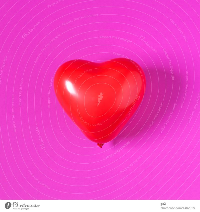 matter of the heart Valentine's Day Balloon Sign Heart Love Pink Red Emotions Happy Friendship Infatuation Romance Kitsch Colour photo Interior shot Studio shot