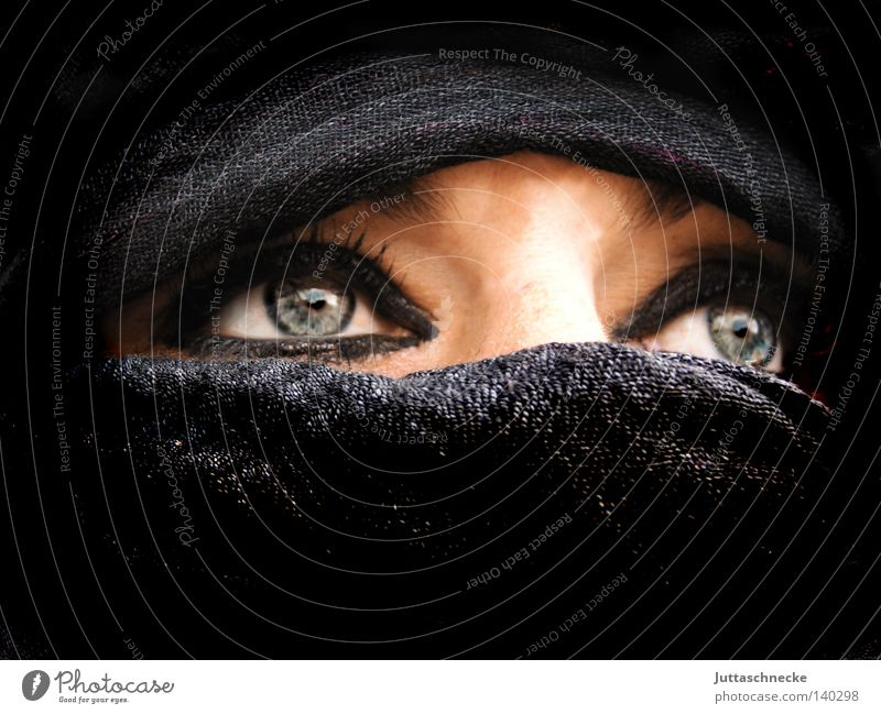 Bedouin Woman Nomade Black Vail Near and Middle East Grief Intensive Repression Narrow Portrait photograph Communicate Might nomad Unclear Mask Cover Looking