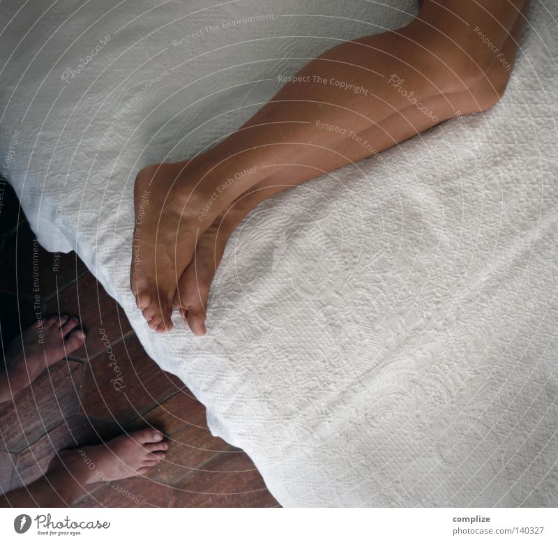 Woman Man Calm House (Residential Structure) Relaxation Naked Legs Sex Flat (apartment) Sleep Bed Hotel Relationship Barefoot Toes Hatred