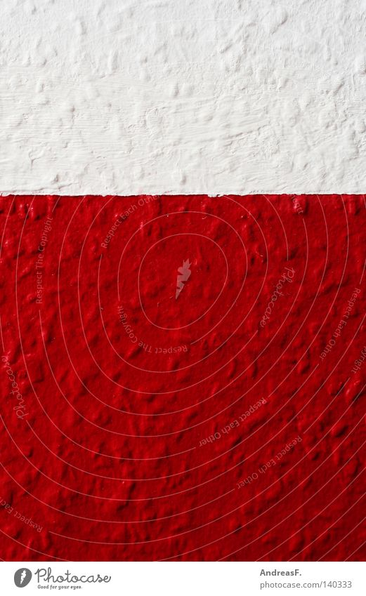 red & white Red White Reddish white Wallpaper Ingrain wallpaper To wallpaper Multicoloured Rough Two-tone Switzerland Painting (action, work) 2 Two-piece Polish