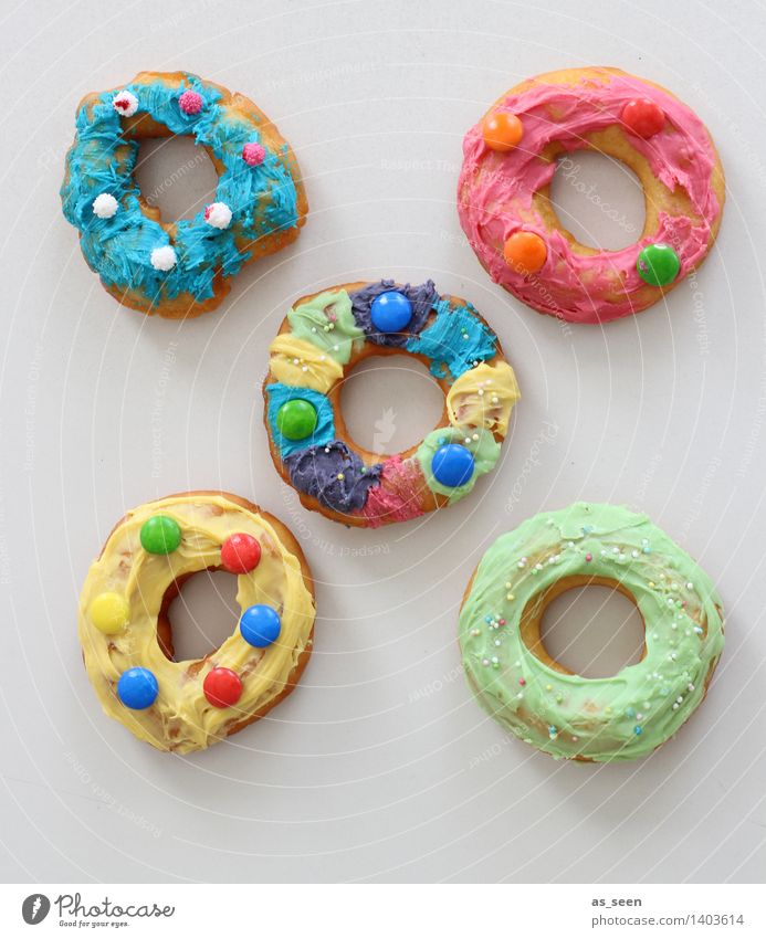 doughnuts Food Dough Baked goods Cake Candy Donut Nutrition Eating Fast food Lifestyle Design Harmonious Senses Decoration Feasts & Celebrations Carnival