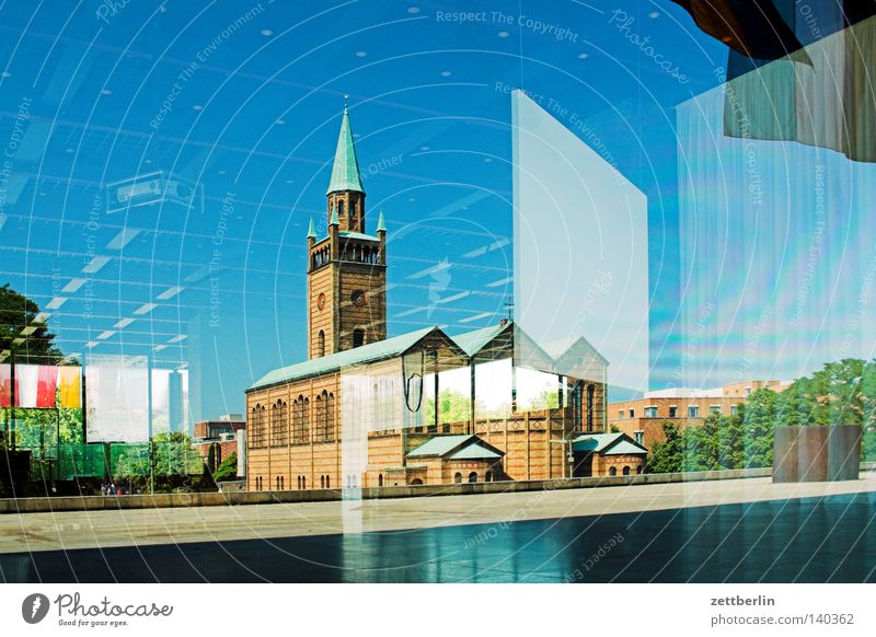 Berlin Religion and faith Architecture Modern Church Construction site Culture Manmade structures Holy Belief Classical modern Exhibition Converse