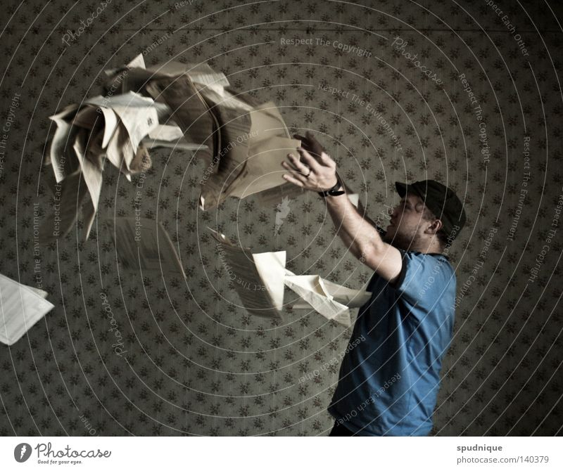 be thrown out in a high bend Throw Arch Curve Paper Page Man Human being Piece of paper Young man Leafing through