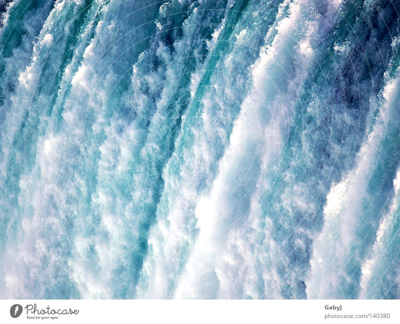 Water Arrangement Drops of water Energy Speed Corner Electricity River Stop Infinity To fall Sudden fall Blue Canada Brook Waterfall