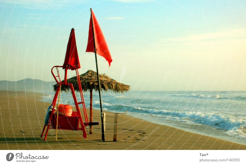 Water Sky Ocean Blue Red Beach Clouds Loneliness Sand Landscape Waves Coast Fog Wind Large Empty