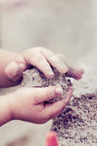 children's hands playing in the sand Parenting Kindergarten Child Toddler Hand Fingers Children`s hand Sand Playing Cute Sandpit Sand cake Playground