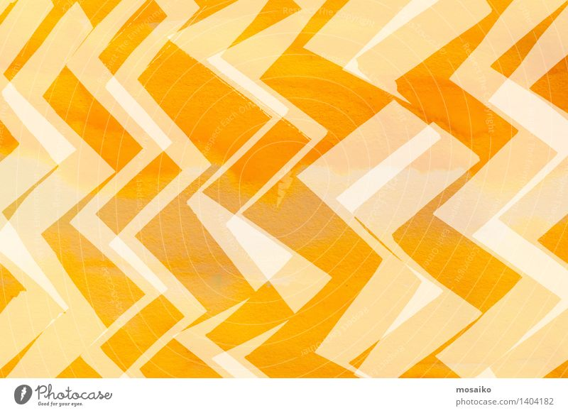dynamic zigzag pattern - abstract design Design Decoration Art Ornament Line Bright Modern Yellow Contentment Energy Colour Complex Creativity Cut Minimalistic