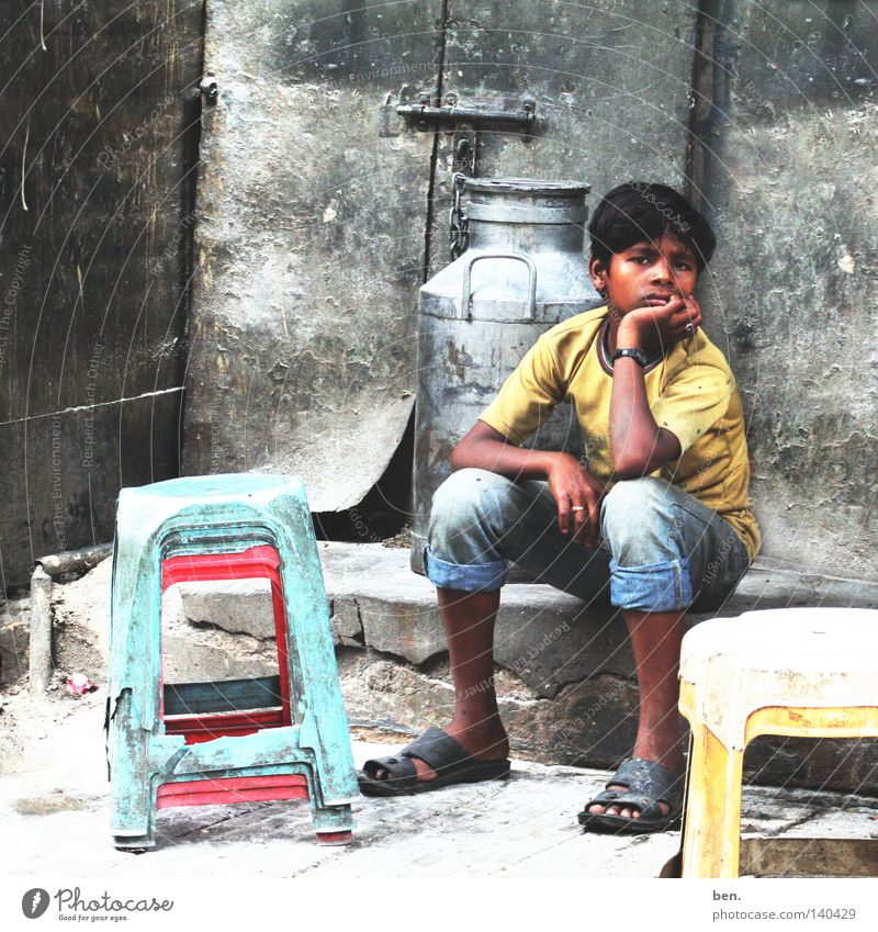 waiting India Delhi Boy (child) Child Wait Backyard Perspective Life Possible Infancy Youth (Young adults)