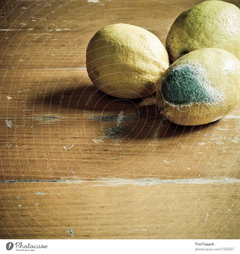 Fruit Nutrition Table Transience Kitchen Putrefy Anger Lemon Social Mushroom Spoiled Wood grain Integration Mold Wooden table Decompose