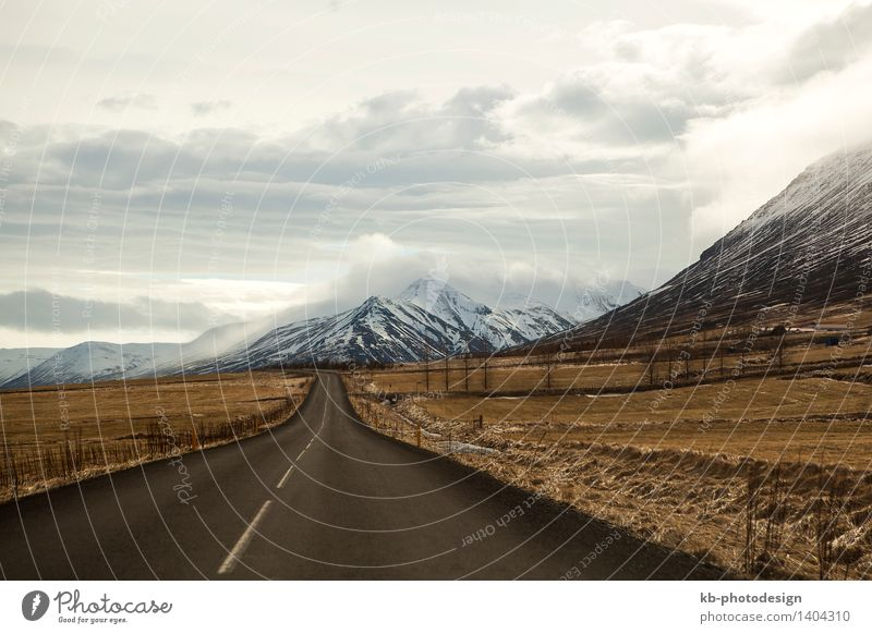 Vacation & Travel Far-off places Winter Mountain Tourism Adventure Iceland Road traffic