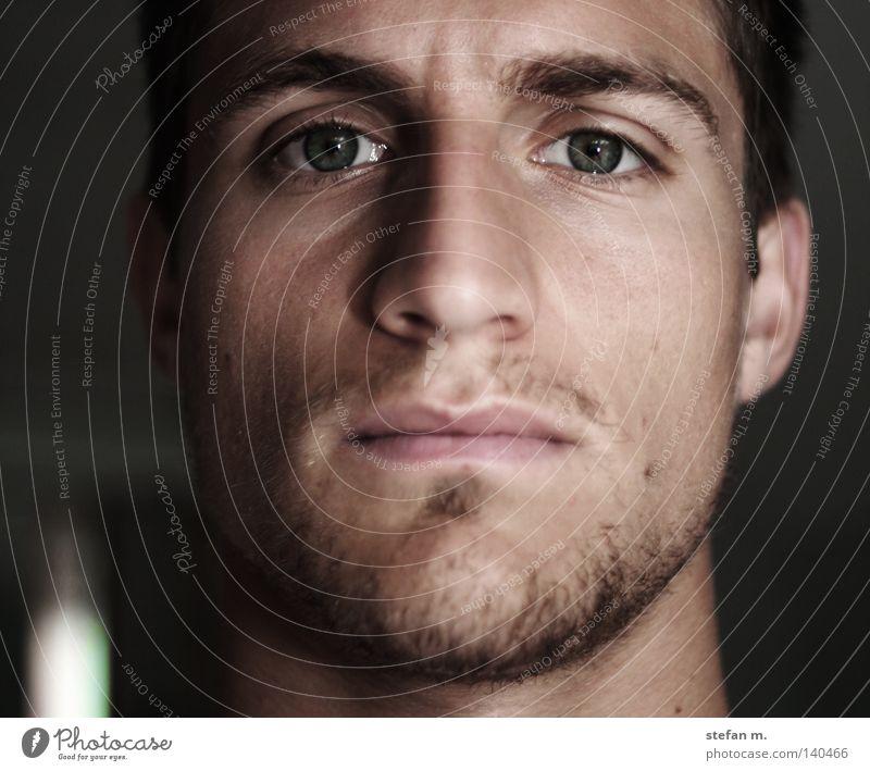 Man Colour Face Eyes Portrait photograph Nose Masculine Ear Mirror Facial hair Soul Character Eyebrow
