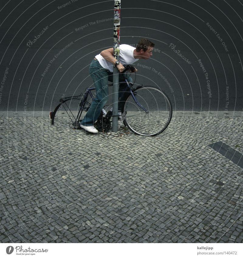 Human being Man Transport Key Vacation & Travel Joy Funny Bicycle Speed Broken Driving Education Castle Rust Emotions Cobblestones