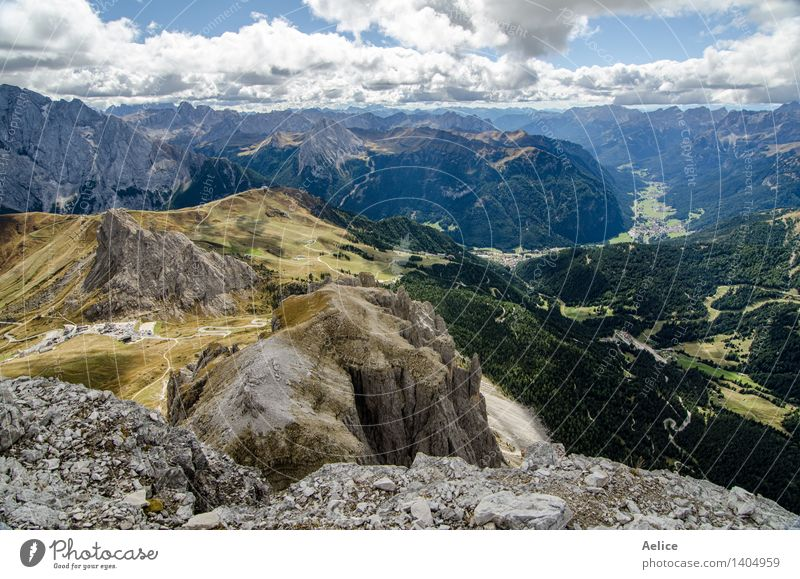 North Italian mountain landscape - Trentino alto Adige Vacation & Travel Mountain Nature Landscape Sky Clouds Park Rock Alps Fear of heights South Tyrol hightop