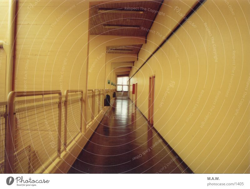 Yellow School School building Hallway Photographic technology