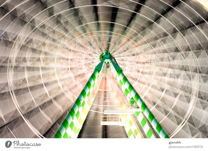 White Green Fairs & Carnivals Rotate Events Duesseldorf Height Scaffold Ferris wheel Rotation Night shot Gyroscope Theme-park rides Giddy Altitude flight