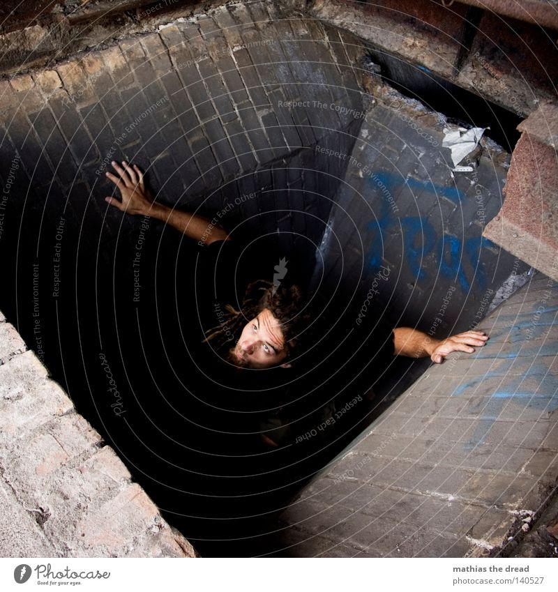 Man To fall Derelict Decline Sudden fall Hollow Deep Trap Edge Go up Resurrection Pit Deepen Risk of accident