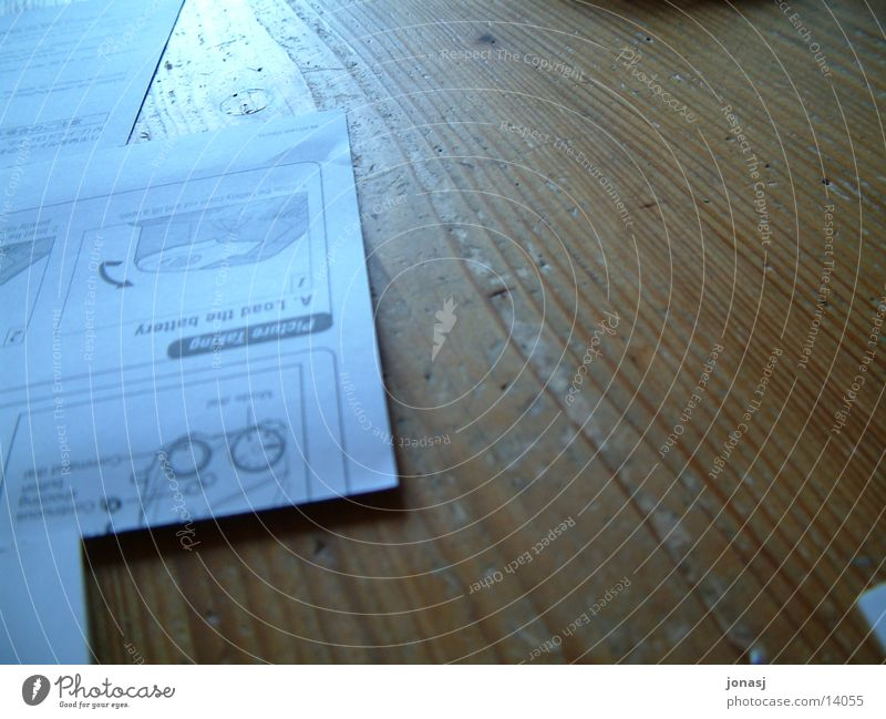 Ticket to Photography Table Light Wood Electrical equipment Technology Guide Wood grain