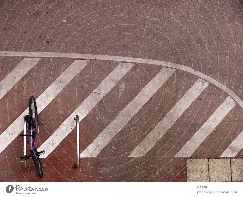 Bike Bicycle Concrete Traffic infrastructure rad beton Rod Stripe lehnen boden vogelperspektive