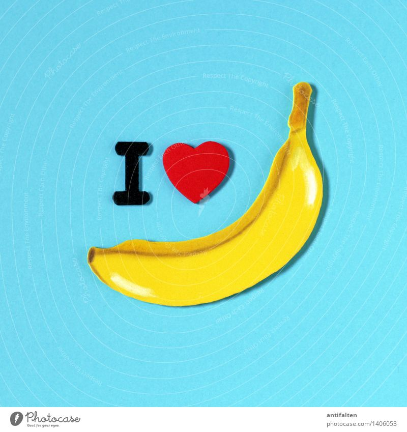 I <3 bananas Food Fruit Banana Nutrition Eating Organic produce Vegetarian diet Diet Fasting Leisure and hobbies Handcrafts Home improvement Handicraft