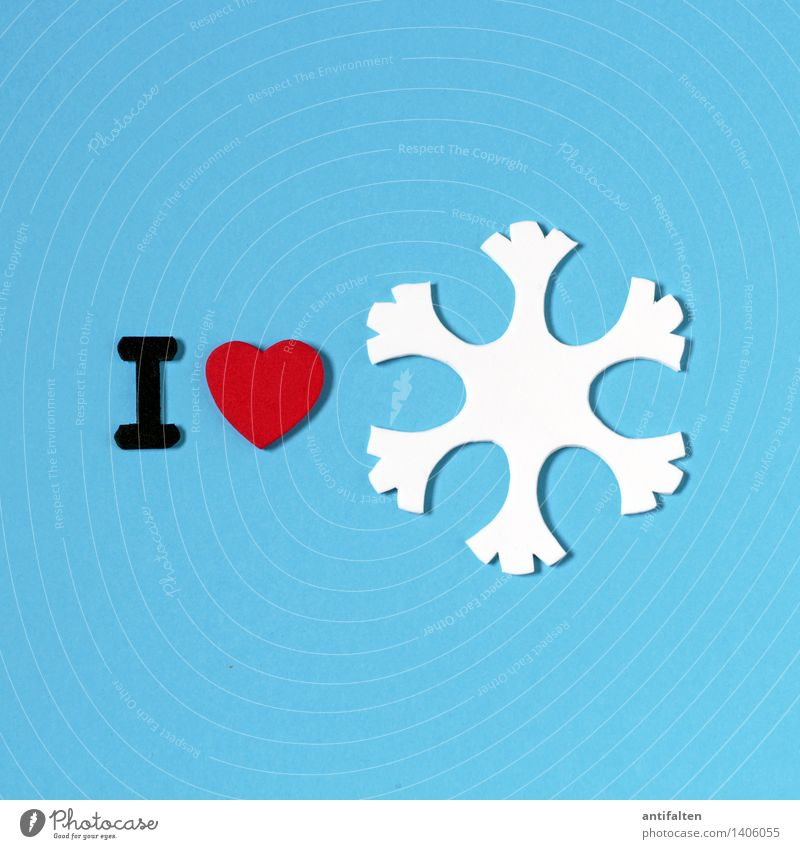 Blue White Red Winter Cold Environment Love Snow Art Design Weather Ice Leisure and hobbies Heart Climate Sign