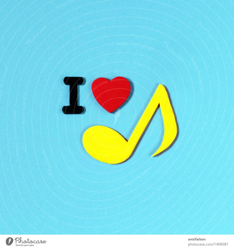 Red Yellow Love Art Design Leisure and hobbies Characters Happiness Heart Paper Sign Letters (alphabet) Media Turquoise Advertising I