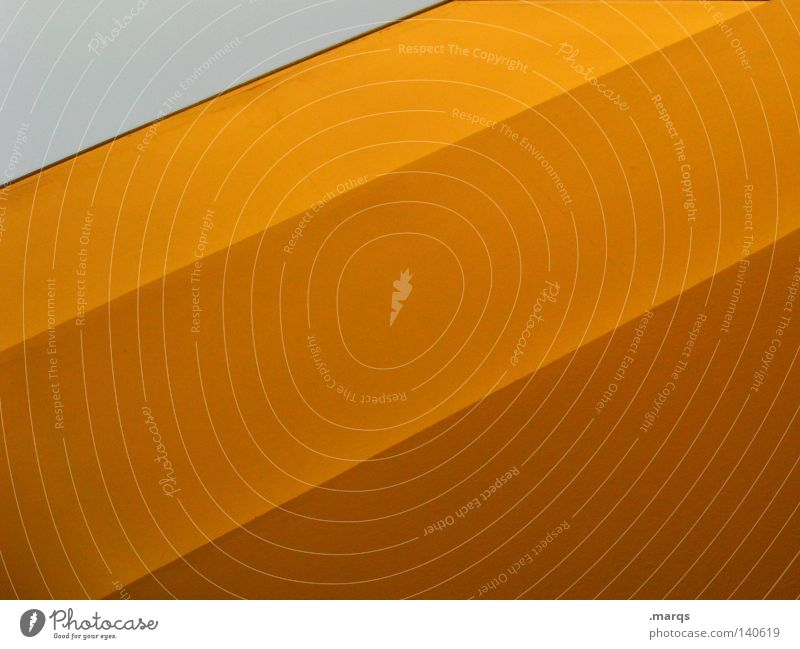 Yellow Colour Line Orange Roof Geometry Surface Intersection Shaft of light