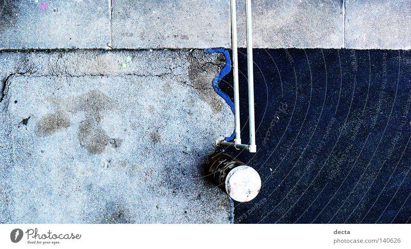 Concrete Detail beton blau Contrast Above Bird's-eye view oben kontrast starker kontrast