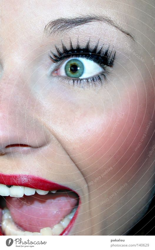 Woman Youth (Young adults) Old Green Beautiful Red Face Eyes Feminine To talk Emotions Fear Pink Skin Mouth Nose