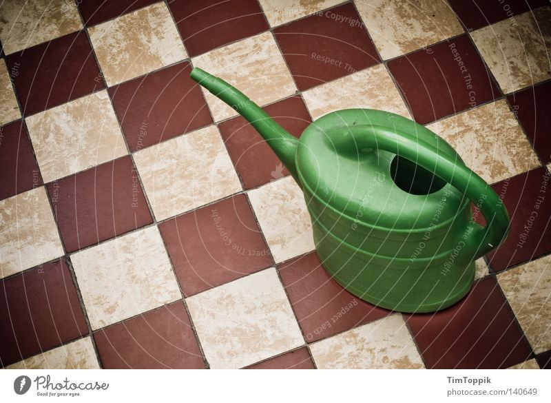 Jug 3000 Watering can Kitchen Bathroom Gardening Cast Green thumb Pattern Gardener Hallway Square Household Craft (trade) Tile tile layers Checkered