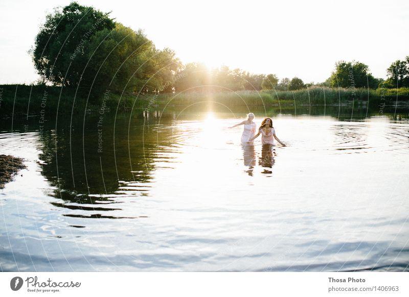 Nature Summer Water Tree Joy Life Love Swimming & Bathing Lake Beautiful weather