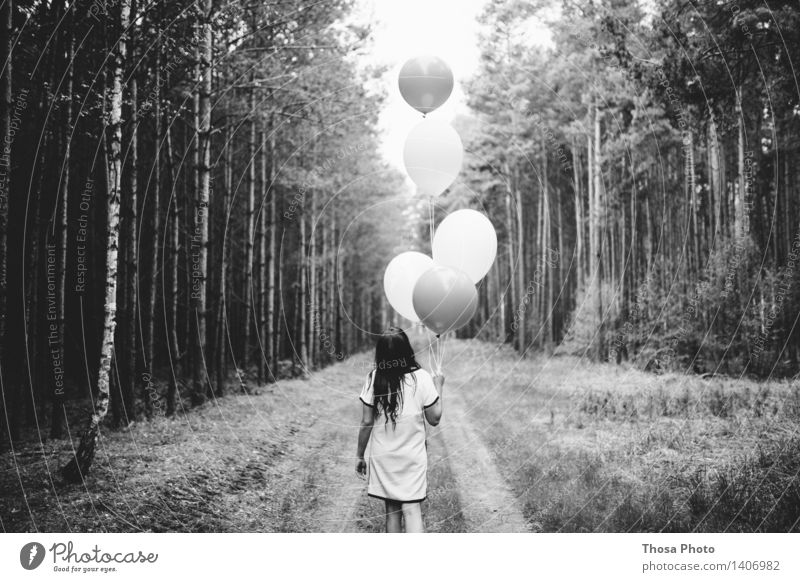 I'll let you fly it. Feminine Hair and hairstyles 18 - 30 years Youth (Young adults) Adults Creativity Balloon Forest Tree Lanes & trails Helium Behind Walking