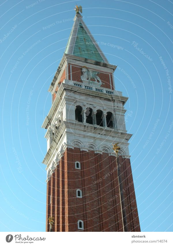 Campanile of Venice St. Marks Square Manmade structures Europe campanile Sky Tower
