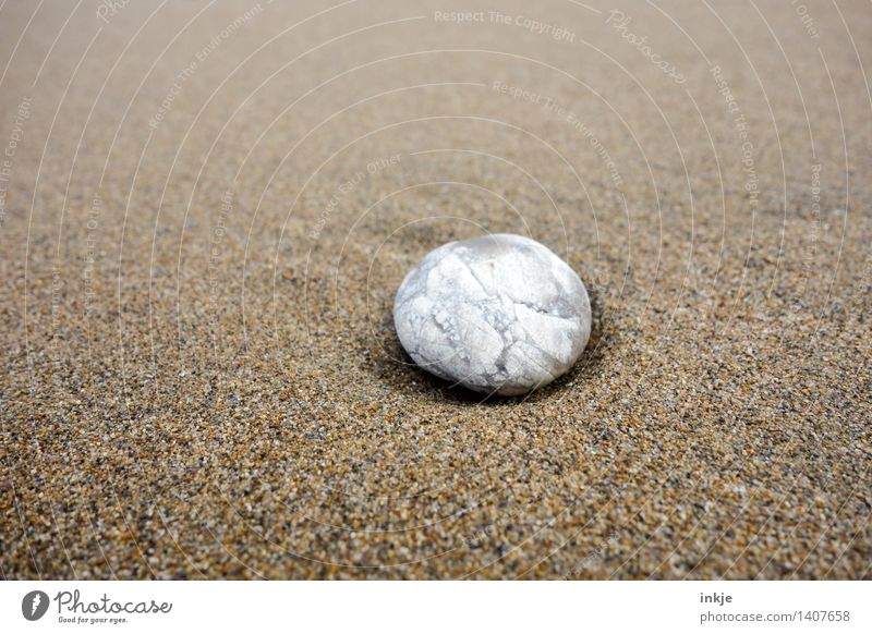 sandstone Nature Sand Beach Pebble Stone Bright Small Maritime Round Soft Brown White Pure Beige Ground down Smoothness Individual Pattern Colour photo