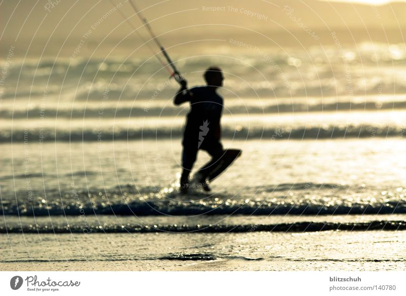 Human being Sun Ocean Beach Sports Life Lake Waves Wind Lifestyle Action Surfing Spain Aquatics Kiting Funsport