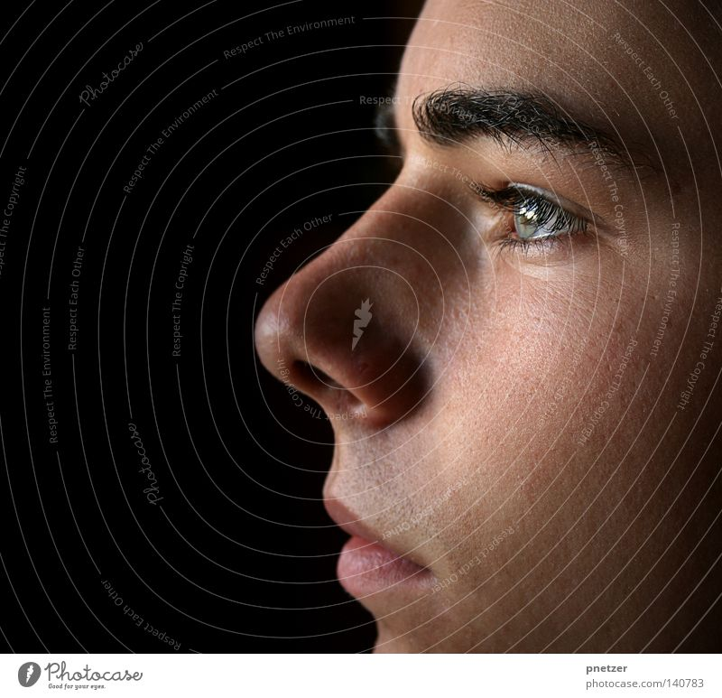 Human being Man Face Black Eyes Head Mouth Skin Nose Grief Side Distress Self portrait