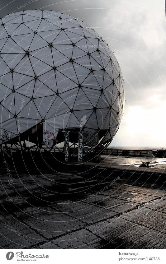 platform Twilight Architecture Dark Round Loneliness Platform Radar station Circle Partially visible