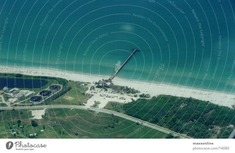 @ the Beach Florida Aerial photograph Jetty Ocean Sandy beach Copy Space top