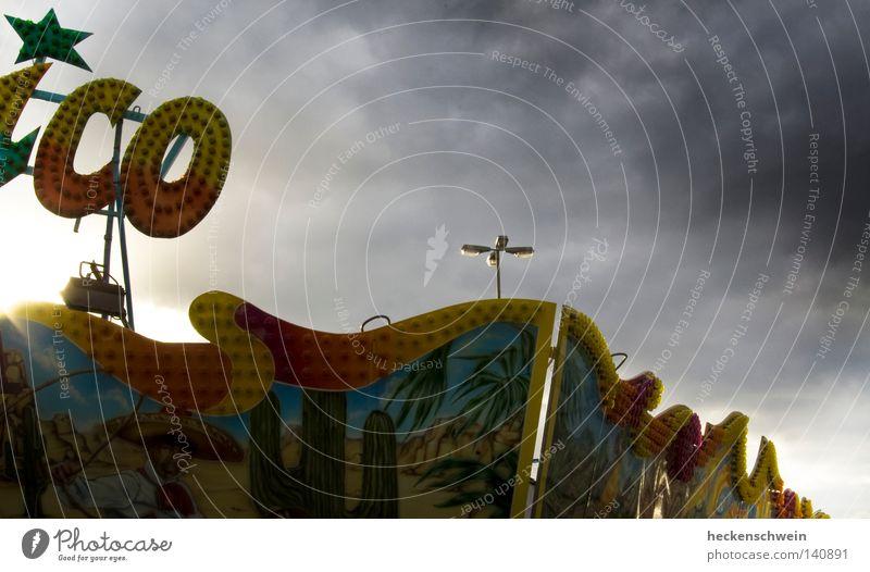 Joy Clouds Dark Star (Symbol) Transience Lantern Dusk Mexico Neon sign
