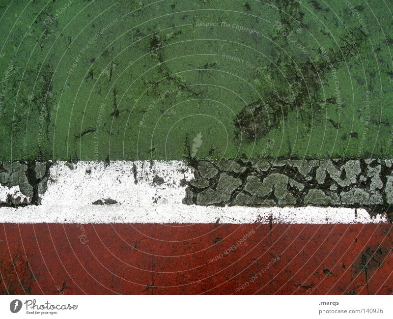 Old White Green Red Colour Playing Movement Line Field Stripe Transience Italy Derelict Sportsperson Sporting grounds
