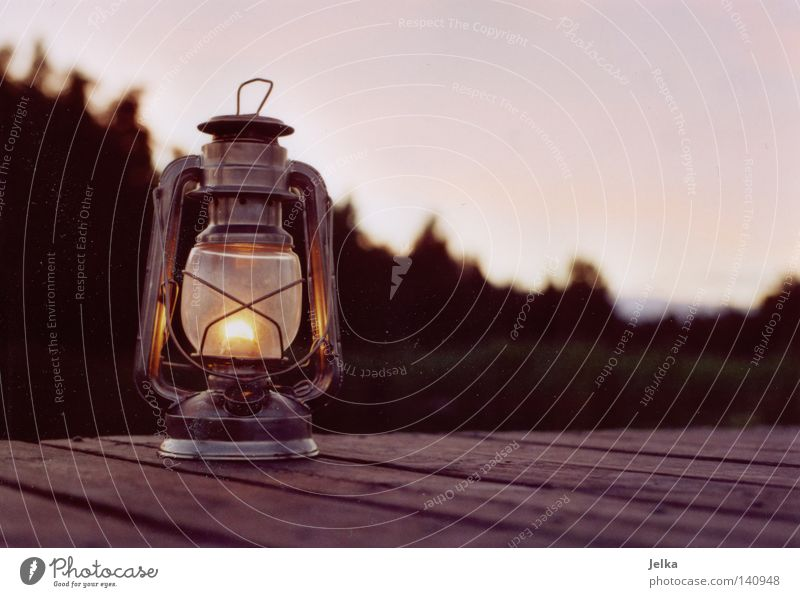 Forest Dark Wood Lamp Bright Lighting Blaze Lantern Camping Footbridge Burn Flame Sweden Wood flour Swedish Oil lamp